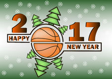 happy-new-year-basketball-christmas-trees-vector-illustration-80580157